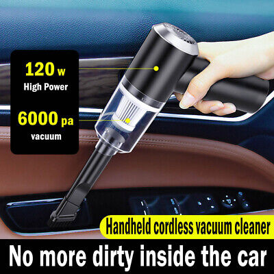Mini Cordless Wet & Dry Car Vacuum Cleaner Handheld Rechargeable Home Hair • 16.89£