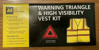 AA Car Essentials - Warning Triangle & High Visibility Vest Kit • 6£