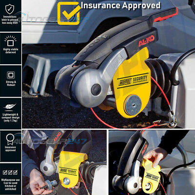 NEW Maypole MP956 Caravan Trailer Insurance APPROVED Hitch Lock For Alko Hitches • 49.95£