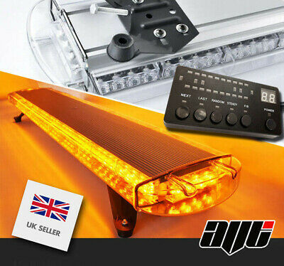 1200MM 48  4K Ultrabrite LED Amber Light Bar Beacon Hazard Recovery Vehicles 12V • 159.98£