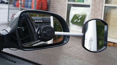 New Caravan & Trailer Towing Car Safety Flat Glass View Wing Mirror Extensions • 19.99£