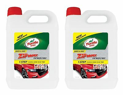 Turtle Wax Zip Super Concentrated Car Wash Shampoo & Wax Cleaning 2 X 5 Litre • 19£