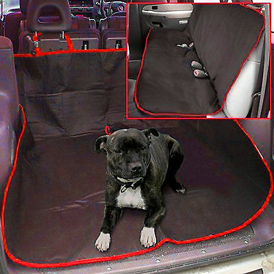 New 2 In 1 Waterproof Car Rear Back Seat Cover Pet Dog Protector Boot Mat Liner • 6.95£
