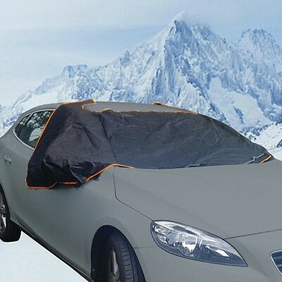 Car Windsheild Frost, Ice & Winter Protection Magnetic Windscreen Cover - BLACK • 10.99£