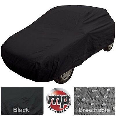 Black Indoor & Outdoor Frost Rain UV Protection Breathable Full Car Cover MEDIUM • 22.95£