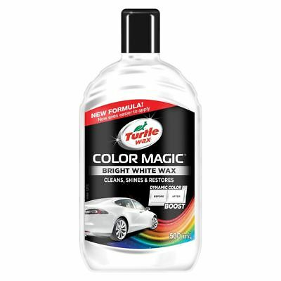 Turtle Wax Color Magic Car Paintwork Polish Restores Scratches Faded 500ml White • 8£