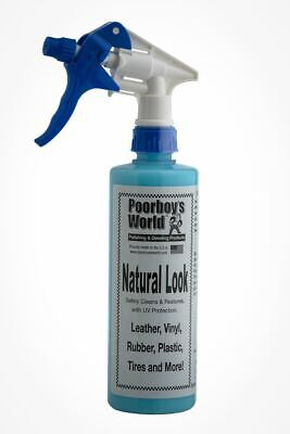 Poorboys Natural Look Cleaner & Restorer For Leather Vinyl With Trigger 473mL • 12.39£