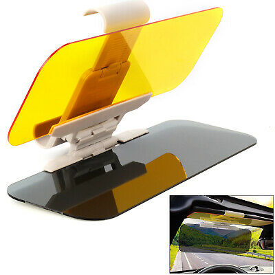 Car Sun Visor Shade Extender Clip On Day And Night Anti-glare Mirror NEW • 8.39£