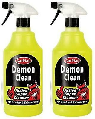 CarPlan CDC101 Demon Clean Interior Exterior Cleaning Care & Protect - 1L X 2 • 12.99£