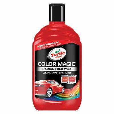 Turtle Wax Color Magic Car Paintwork Polish Restores Scratches Faded 500ml Red • 8£