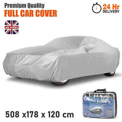 Heavy Duty Waterproof Car Cover Rain Snow UV Protection Outdoor Breathable Large • 12.99£