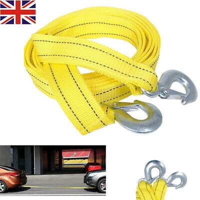 5 TONNE 4Metre Tow Towing Pull Rope Nylon Strap Heavy Duty Road Recovery Car Van • 7.12£