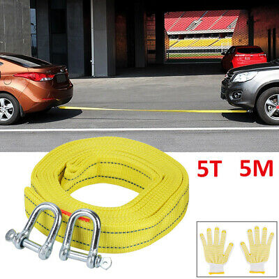 5 TON 5M Tow Rope Towing Pull Strap Heavy Duty Offroad Recovery Quality Polyeste • 8.69£