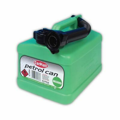 CarPlan Petrol Can Tetra Green Unleaded With Flexible Spout - 5L Litre • 7.99£