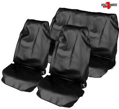 Black Heavy Duty Waterproof Full Set Car Seat Covers Protectors For Ford  • 15.49£