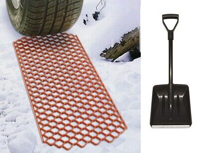 Durable Car Van 4x4 Ice Mud Sand Snow Grabber Rescue Traction Grip Mats & Shovel • 16.99£