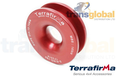 18 Tonne MBS Red Winch Alloy Snatch Ring Terrafirma TF3314 • 74.95£
