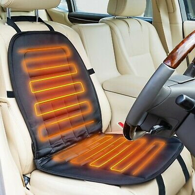 AA Heated Car Seat Cover 12V Black Universal Pad Thermal Warmer  • 18.99£
