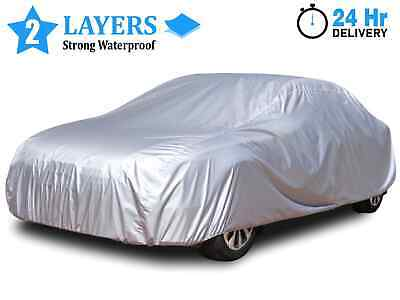 Waterproof Car Cover XL Heavy Duty UV Snow Protection Breathable 2 Layer Cotton • 16.99£