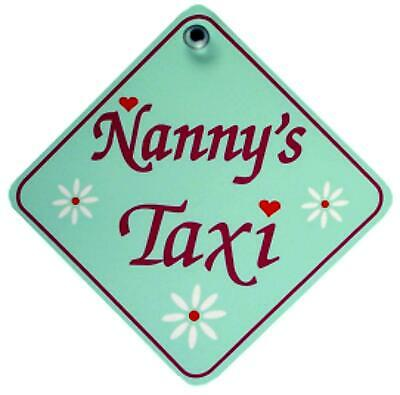 Castle NANNY'S TAXI Diamond Hanging Car Window Sign • 3.57£