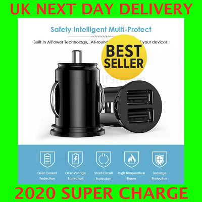 Fast Car Charger USB Cigarette Lighter Socket Dual Adapter For IPhone Samsung • 3.99£