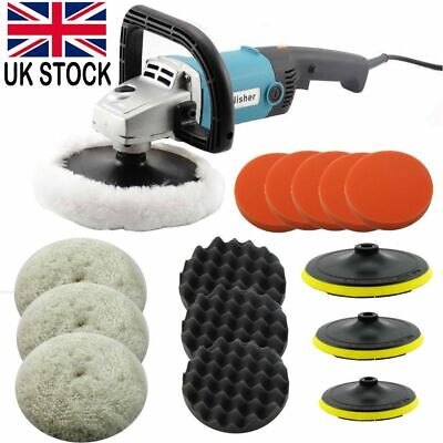 Electric Car Polisher Sander Buffer Polishing Machine Kit 1400W Variable Speed • 38.98£