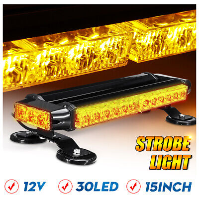 46 LED Amber Emergency Warning Strobe Recover Light Bar Truck Flashing Beacon • 49.96£