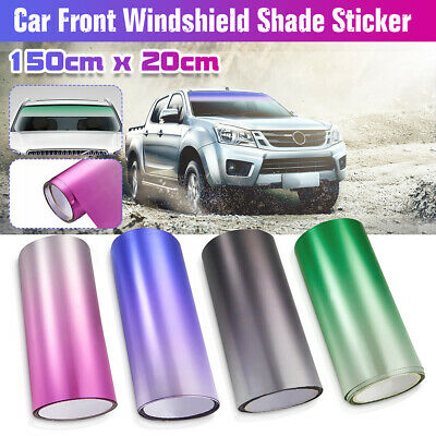 Car Front Windshield Sun Shade Film Tint Sticker Window Protect Sun Visor  • 4.79£