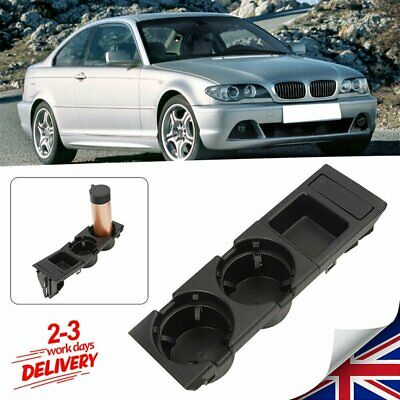 Car Front Center Console Cup Box Dual Drinks Holder For 98-05 BMW 3 Series E46 • 17.84£