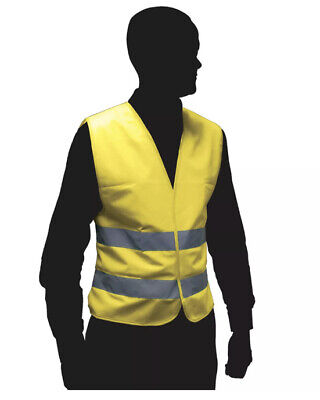 High Visibility Florescent Reflective Safety Vest Waistcoat Adult Hi Vis Yellow • 9.99£