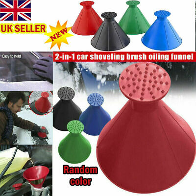 UK Magical Car Windshield Ice Snow Scraper Remover Tool Cone Shaped Round Funnel • 2.99£
