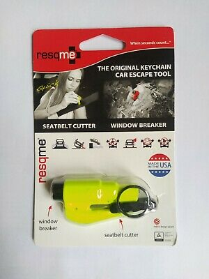 ResQme Genuine Rescue Quick Car Escape Tool Seatbelt Cutter Glass Breaker • 8.99£