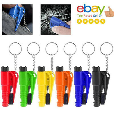 Emergency Safety Escape Car Window Glass Breaker Hammer Keyring Seat Belt Cutter • 1.99£