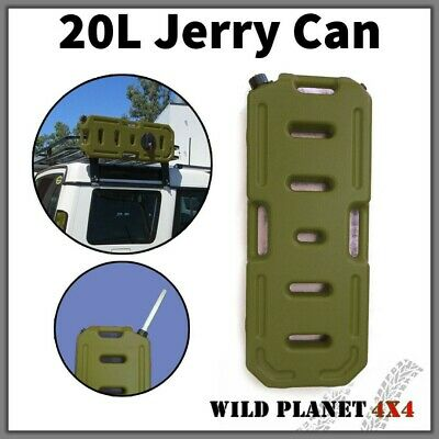20L Jerry Can Heavy Duty Fuel Container Spare Container Army Green Olive • 45£
