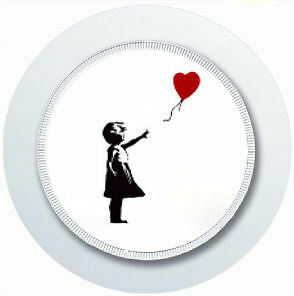 Banksy Girl And Balloon Car Tax Disc Holder Reusable Parking Permit Holder • 2.99£