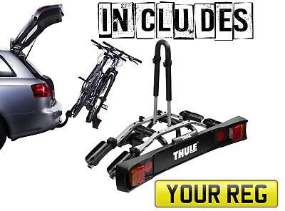 Thule 9502 Bike Cycle Carrier Tow Bar Mounted | Holds 2 Bikes  PACKAGE DEAL  • 225£