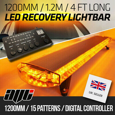 1200MM 1.2m 48  Van Truck LED Amber Light Bar Beacon Hazard Recovery Lightbar • 160£
