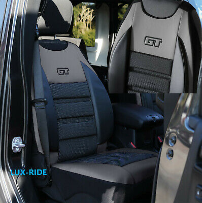 Transit Custom 2013 - 2020 Driver's Seat Cover Mat Artificial Leather & Fabric • 29.98£