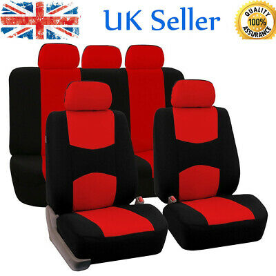 Universal Car Protectors Red Black Washable Seat Covers Set Safe Full Set Red • 12.99£