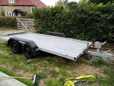 Twin 4 Wheel Trailer With Winch And Ramps  • 650£