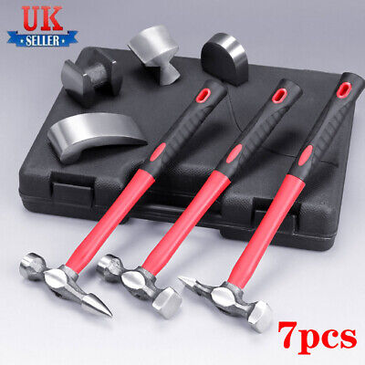 7X Hammers Car Auto Body Panel Repair Tool Fibre Handles Beating Hammer Set • 19.98£