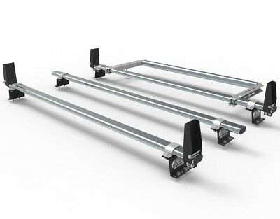 Ford Transit Custom Roof Rack Bars  3 Bar With Stops And Rear Roller  AT86LS+A30 • 151.19£