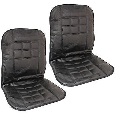 Pair Of 2 Orthopaedic Leather Front Car Seat Covers Protect Back Support Cushion • 12.99£