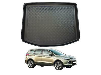 Tailored Fit Black Boot Liner Tray Floor Mat Protector For Ford Kuga (2013 On) • 19.99£