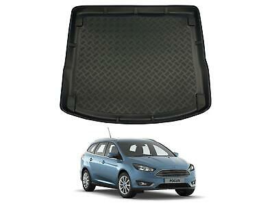 Tailored Fit Black Boot Liner Tray Car Floor Mat For Ford Focus Estate (2011 On) • 19.99£