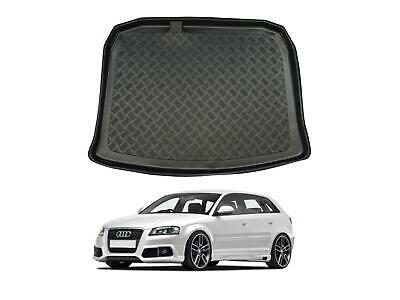 Tailored Fit Black Boot Liner Tray Car Rear Floor Mat Cover For Audi A3 (03-12) • 19.99£
