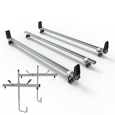 Ford Transit Custom Roof Rack Bars With Load Stops + Ladder Clamps AT86LS+A1 • 129.59£