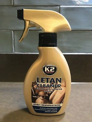 K2 Letan Cleaner Cleans Restores Leather Cleaning Skin Colours Protect Car Sofa • 6.99£