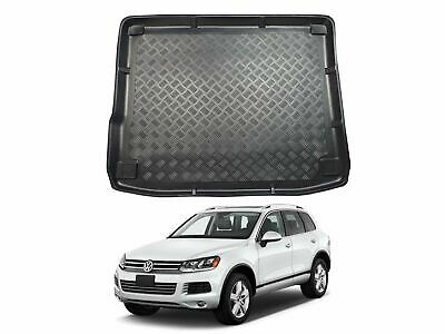 Tailored Fit Black Boot Liner Tray Car Rear Floor Mat For VW Touareg (10-18) • 19.99£
