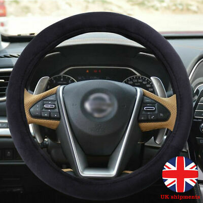 38cm Car 12V Lighter Charger Heated Heating Warm Steering Wheel Cover Universal • 26.99£